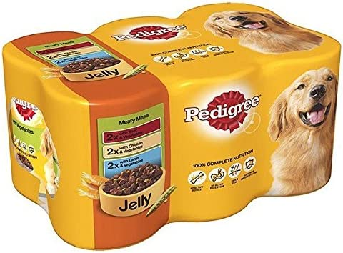 Pedigree Dog Tins Meaty Meals in Jelly 6 x 385g (PACK OF 6) – Dogs Corner