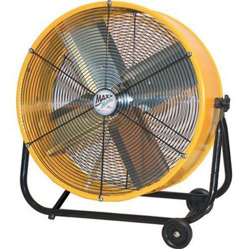 Ventamatic BF24TF YEL MaxxAir 24-Inch High-Velocity 2-Speed Portable Air Circulator, Yellow by Maxxair