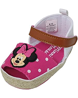 Minnie Mouse Pink Polka Dot Girl's Baby Sneakers