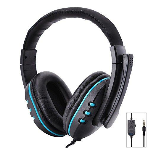 Auriculares casco estéreo con micrófono de 3,5 mm con cable para juego para PS4 Xbox One Switch PC