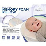Baby Love | Head Shaping Memory Foam Pillow | Pillowcase Included | White