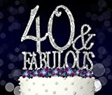40 & Fabulous, Birthday Cake Toppers, Crystal Rhinestones Review and Comparison