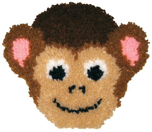 Huggable Kit - MCG Textiles Huggables Animal Monkey Pillow Latch Hook Kit