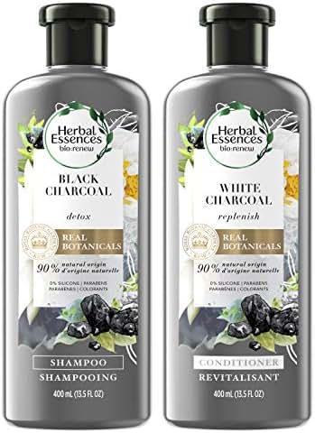 Shampoo & Conditioner: Herbal Essences Bio:Renew Black Charcoal