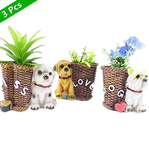 - ASIBT Corgi Planter Flower Pot Succulent Dog Planter Box(Set of 3)