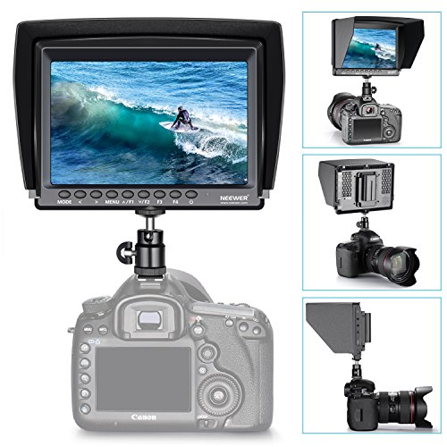 Neewer F100 7-inch 1280x800 IPS Screen Camera Field Monitor Kit: Support 4k input with 2600mAh Rechargeable Li-ion Battery, USB Battery Charger and 11.8-inch Magic Arm for DSLR Camera/Camcorder by Neewer (Image #3)