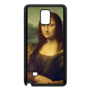 Mona Lisa by Leonardo da Vinci Black Silicon Rubber Case for Galaxy Note 4 by Painting Masterpieces + FREE Crystal Clear Screen Protector