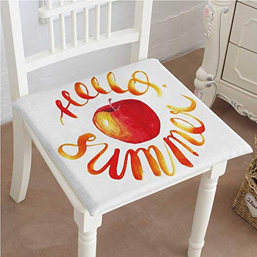 Mikihome Indoor/Outdoor All Weather Chair Pads Textured with Apple Scarlet Yellow Seat Cushions Garden Patio Home Chair Cushions 14