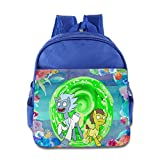 KIDDOS Infant Toddler Kids Rick And Morty Backpack School Bag, RoyalBlue