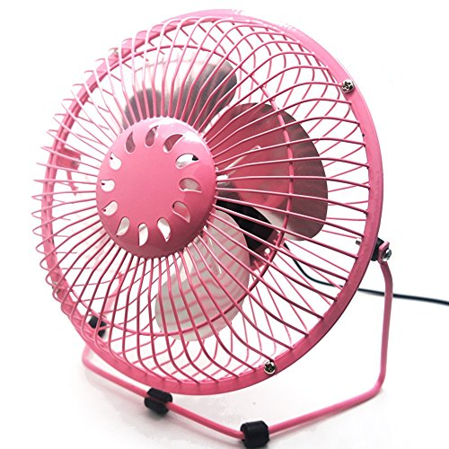 USB Fan, soled Personal Table Fan, 6 inch Quiet Office Fan, Mini (14 Mascot Desk Lamp)