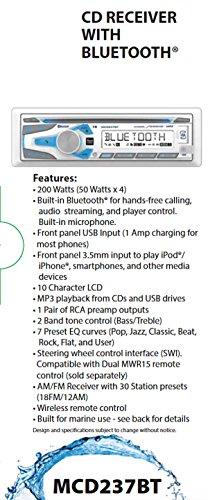 Dual Electronics 1DIN MRN CD AM/FM RCVR/BT MCD237BT by Dual Electronics (Image #2)