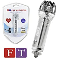 Car Air Purifier, FT Car Ionizer | Provides Fresh Clean Air Removing Cigarette Smoke, Smell and Bacteria (Silver)