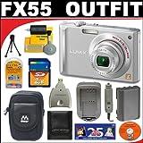 Panasonic Lumix DMC-FX55S 8.1MP Digital Camera with 2GB SD Card + Deluxe DB ROTH Accessory Kit