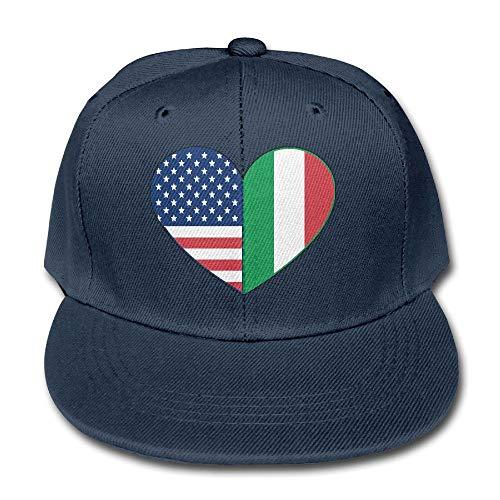 Boys Girls' Love Being Italian-American Baseball Cap Cool Hip Hop Flat Hat ()