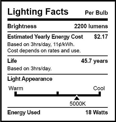 Sunco Lighting 10 Pack 4FT 48 Inch T8 Tube LED Light Bulbs 18 Watt (40 Equivalent) Frosted 5000K Kelvin Daylight 2200LM Bright White Light SINGLE Sided Connection Bypass Ballast - ETL & DLC LISTED