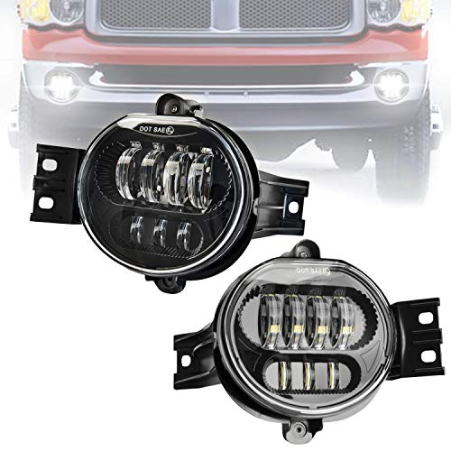 - Viveway DOT Approved LED Fog Light Projector Driving Fog Lamps Replacement kit for Dodge Ram 1500 2500 3500 Pickup Truck 2003 2004 2005 2006 2007 2008 2009 1 Pair