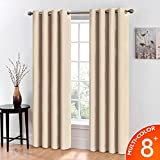 Balichun Thermal Insulated Blackout Grommet Window Curtains and Drapes for Living Room and Bedroom, 2 Panels (52*95, Beige)