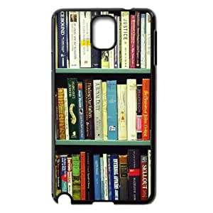 HOT phone cases, Book Shelf Pattern black plastic case For Samsung Galaxy Note 3 at Run horse store