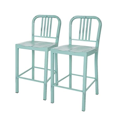 Tremendous Amazon Com Glitzhome Vintage Metal High Chair Counter Caraccident5 Cool Chair Designs And Ideas Caraccident5Info