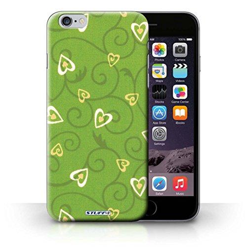iCHOOSE Print Motif Coque de protection Case / Plastique manchon de telephone Coque pour iPhone 6+/Plus 5.5 / Collection Coeur Vigne Motif / Jaune/Vert