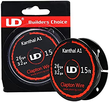 UD Youde Draht, Kanthal A1, Clapton 26+32AWG, 5m Spule: Amazon.de ...
