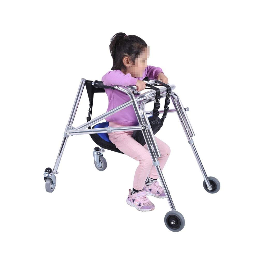 JLVNA Folding Walker, Collapsible Telescopic Walker with Armrests and Seats for Indoor and Outdoor Children by JLVNA
