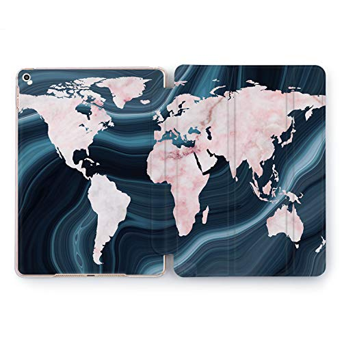 Wonder Wild Marble Map Apple iPad Pro Case 9.7 11 inch Mini 1 2 3 4 Air 2 10.5 12.9 2018 2017 Design 5th 6th Gen Clear Smart Hard Cover -
