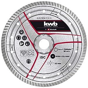 kwb by Einhell Disco da taglio diamantato 200 x 25,4 mm, accessorio tagliapiastrelle (Ø 200 x 25,4 mm, bordo diamantato… 51DnUCncSXL. SS300
