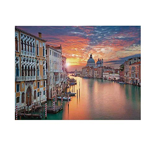 Cityscape Photography Background, of Grand Canal in Venice Horizon European Town International Heritage Urban Backdrop for Studio,20x10ft
