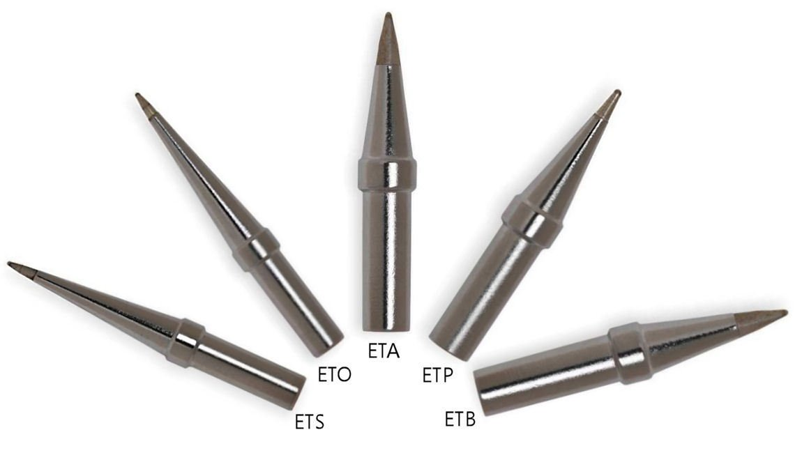 Genuine Weller Soldering Tip BUNDLE: ETS/ETO/ETA/ETP/ETB Long conical/screwdriver tips