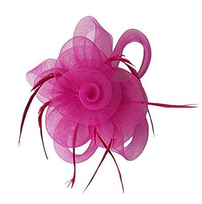 Fascinator Hair Clip Headband Feather Flower Hat Mesh Cocktail Tea Party