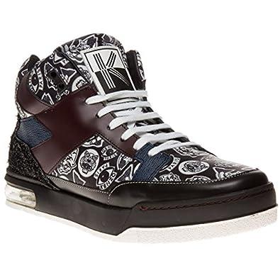 93c8bf8d477e Kenzo Yard Multi Logo Homme Baskets Mode Noir  Amazon.fr  Chaussures ...