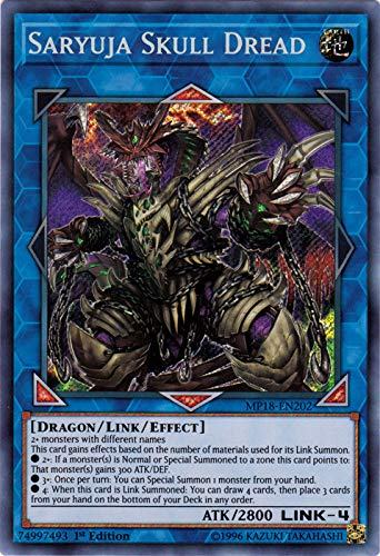 - Yu-Gi-Oh! - Saryuja Skull Dread (MP18-EN202) - 2018 Mega-Tin Mega Pack - 1st Edition - Secret Rare
