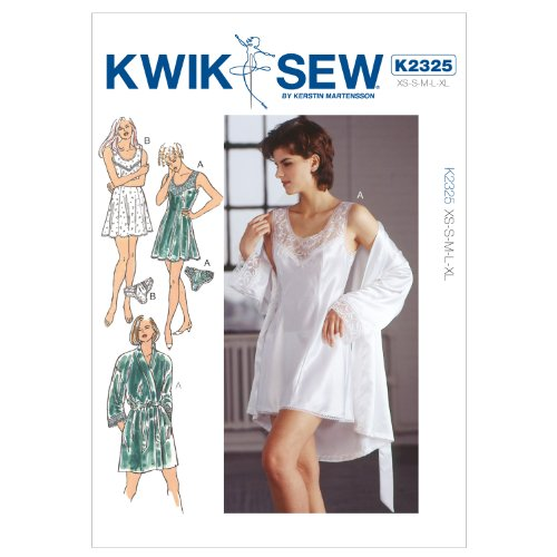 KWIK-SEW PATTERNS Kwik Sew Kerstin Martensson Designs Pattern 2325 Misses Chemise, Robe and Panties Size XS-XL 8-22 by KWIK-SEW PATTERNS