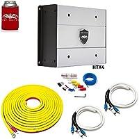 Wet Sounds HTX4 Package: 600 watt 4-channel amplifier & Stinger 7-Meter 4-Gauge Amplifier Wiring Kit w/RCAs