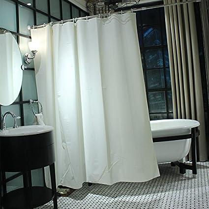 White Shower Curtain Santa Bathroom Waterproof 180 18