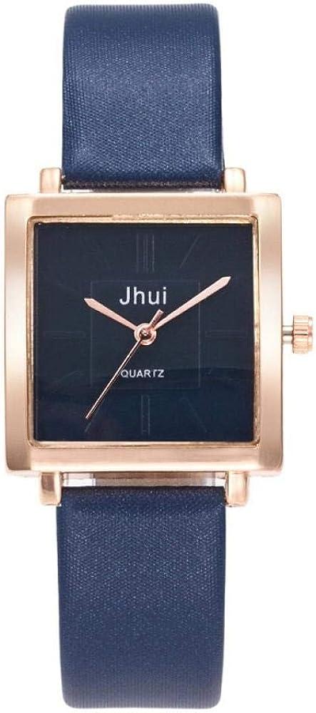 Reloj Simple Roman Forum Student Watch Lady Quartz Watch Blue