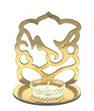 Satyam Kraft ( 1 Pcs ) Ganesh Ji Shadow diya tealight candle holder stand for Pooja and Decorative/Gift/Diwali gift/Diwali Decor/wedding gift/Diwali Diya