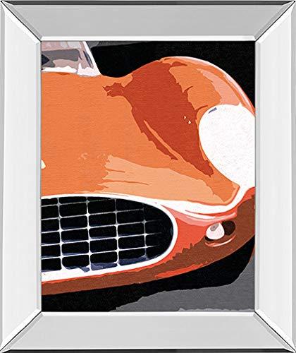 Classy Art'Ferrari Classic by Malcolm Sanders Framed Print Wall Art Red