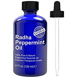 Radha Beauty Essential Oil 4 oz - 100% Pure (Peppermint)