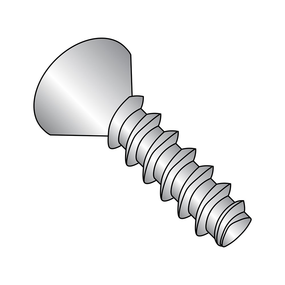 18-8 Stainless Steel Thread Rolling Screw for Plastic Passivated Finish Small Parts 1416LPF188 82 Degree Flat Head Pack of 25 1 Length 1//4-10 Thread Size Phillips Drive Pack of 25 1//4-10 Thread Size 1 Length