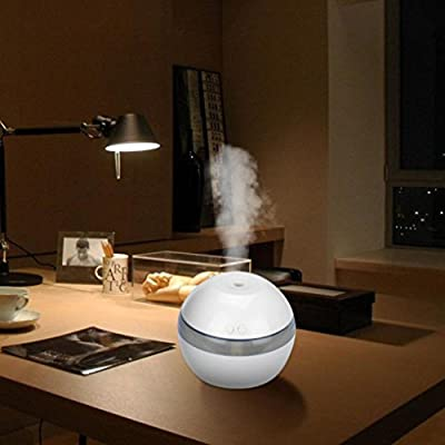 Humidifier, GOODCULLER Air Spray Water Dispenser Diffuser Ultrasonic Beauty Moisturizing Humidifier for Car Family Office Home Bedroom Living Room