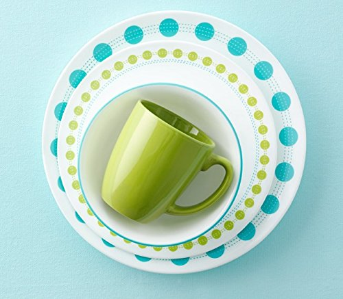 Corelle Livingware 16-Piece Dinnerware Set, South Beach, Service for 4