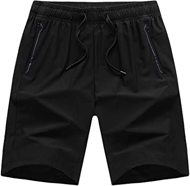 MODOQO Mens Shorts-Fashion Body-Building Pure Colors Slimd Fit Shorts for Gym Sports