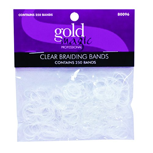 Gold Magic Elastic Braiding Bands, Clear ()