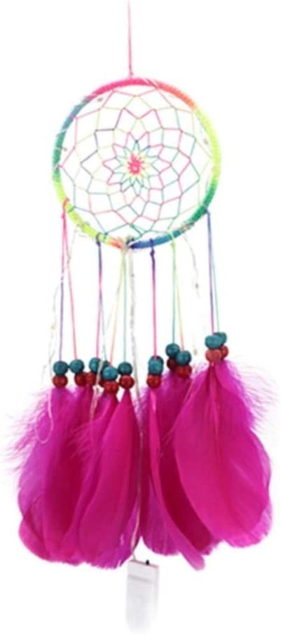 Atrapasueños Hecho A Mano 44Cm Dream Catcher Home Colgante Decoración Dreamcatcher Feather Tail Dream Net Decoración Regalos De Fiesta De Boda para Invitados
