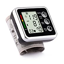 Digital Wrist Sphygmomanometer Blood Pressure Pulse Rate Monitoring Irregular Heartbeat Detection Home Using with Voice Broadcast Or No Broadcast