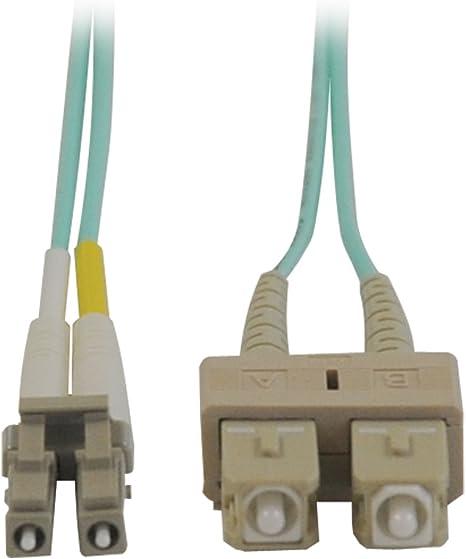 2M 10 GB AQUA MULTIMODE 50//125 DUPLEX FIBER PATCH CABLE LC//SC Electronics Computer Networking