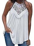 MIHOLL Women's Sleeveless Shirts Summer Tops Lace
