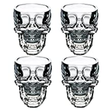 EASYTAR Crystal 3D Skull Pirate Shot Glass Drink Cocktail Beer Cup , Set Of 4 by EASYTAR